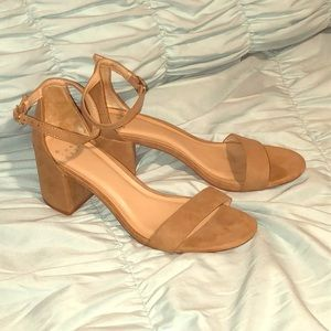 a new day tan suede heels